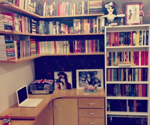 books, room, and bedroom image