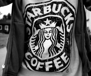 starbucks, coffee, and shirt image