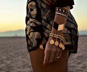fashion, summer, and gold image