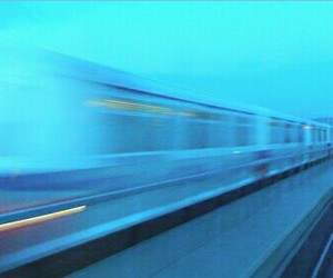 fast, green, and train image