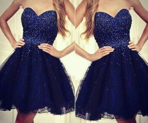 blue, dark, and dress image