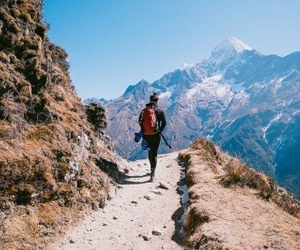 mountains, travel, and adventure image