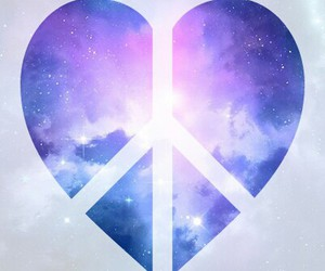galaxy, heart, and peace image