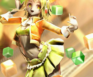 green, gumi, and mmd image