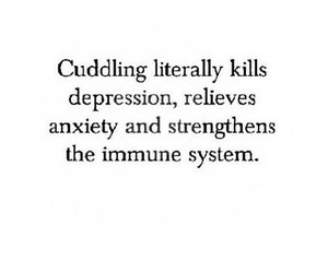 cuddling, quotes, and depression image