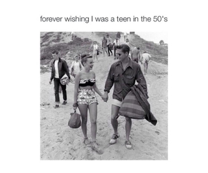 1950's, beach, and tumblr image