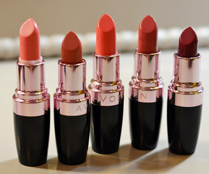 lipstick, red, and avon image