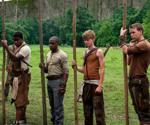 the maze runner, newt, and gally image