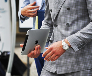 ipad, style, and suit image