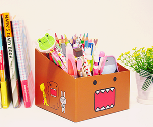 cute, domo, and book image