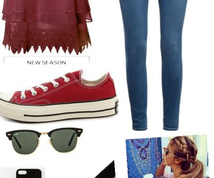 casual, red, and girl image