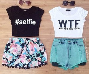 fashion, outfit, and selfie image