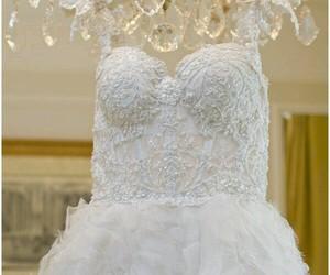 bridal, wedding dress, and cristais image