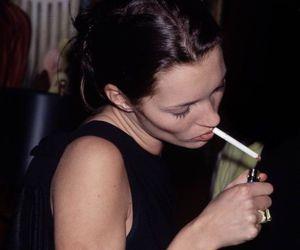 beautiful, cigarette, and kate moss image