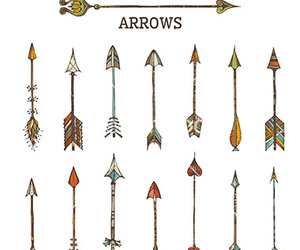 arrow, doodle, and hand drawn image