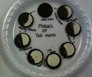 oreo, moon, and phases of the moon image