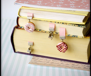 bookend, bookmark, and donut image
