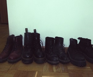 black boots, boots, and doc martens image