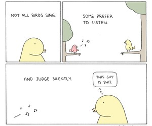 funny, bird, and comic image