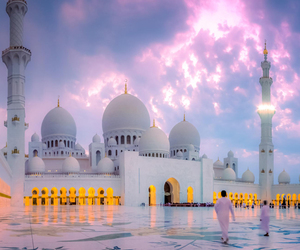 mosque, sky, and travel image