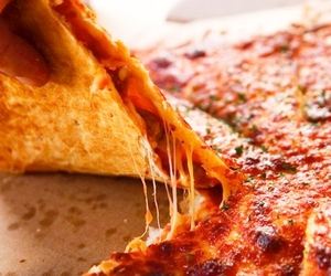 food, pizza, and food porn image
