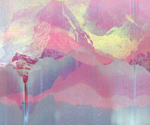 art, mountain, and pink image