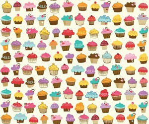 background, cupcake, and sweet image