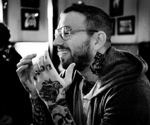 tattoo, dallas green, and black and white image