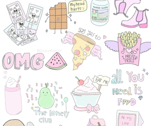 baby, pizza, and girly image