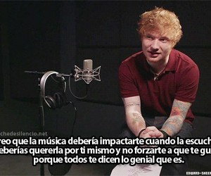 ed sheeran, music, and frases image