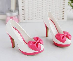 pink, shoes, and white image