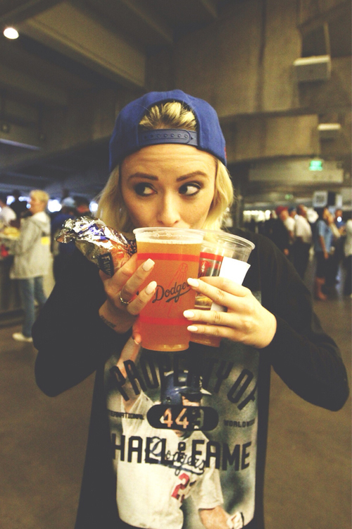 girl, drink, and blonde image