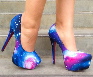 galaxy, heels, and shoes image