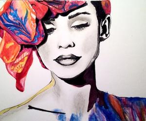 art, diy, and watercolor image
