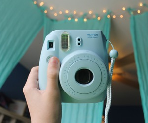 camera, blue, and tumblr image