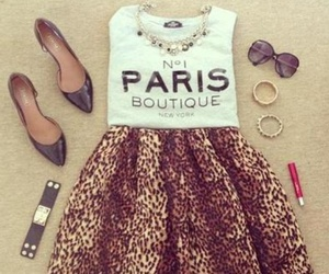 animal print, summer outfit, and paris image
