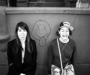 black and white, soft grunge, and broad city image