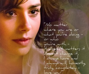 love rosie, lily collins, and quote image