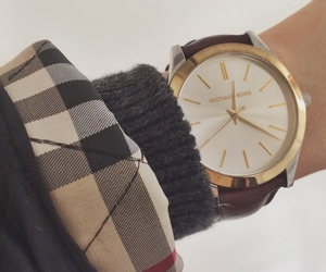 Burberry, gold, and watch image