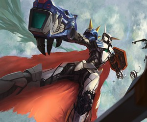 battle, digimon, and omnimon image