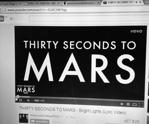 30 seconds to mars, grey, and bright lights image