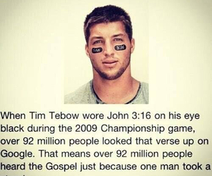 tim tebow, john 3:16, and gospel image