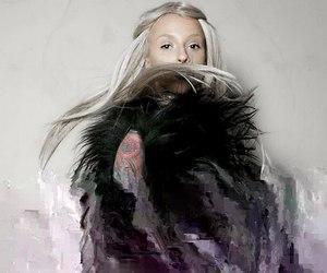 girl, glitch, and magic image