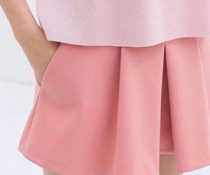 aesthetic, peach, and skirt image