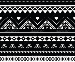 aztec, black, and heart image