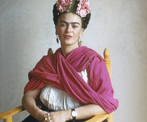 art, flowers, and frida kahlo image