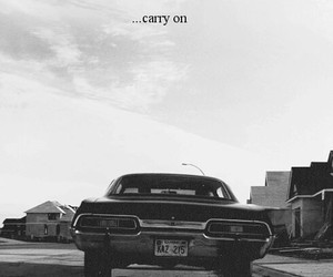 supernatural, impala, and carry on image