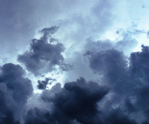 clouds, sky, and grunge image