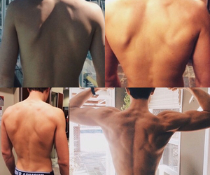 damn, back muscles, and goals image