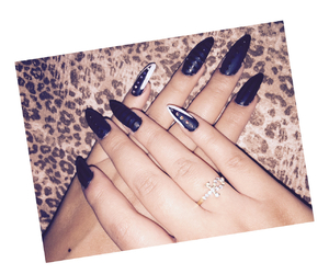 black, long, and nails image